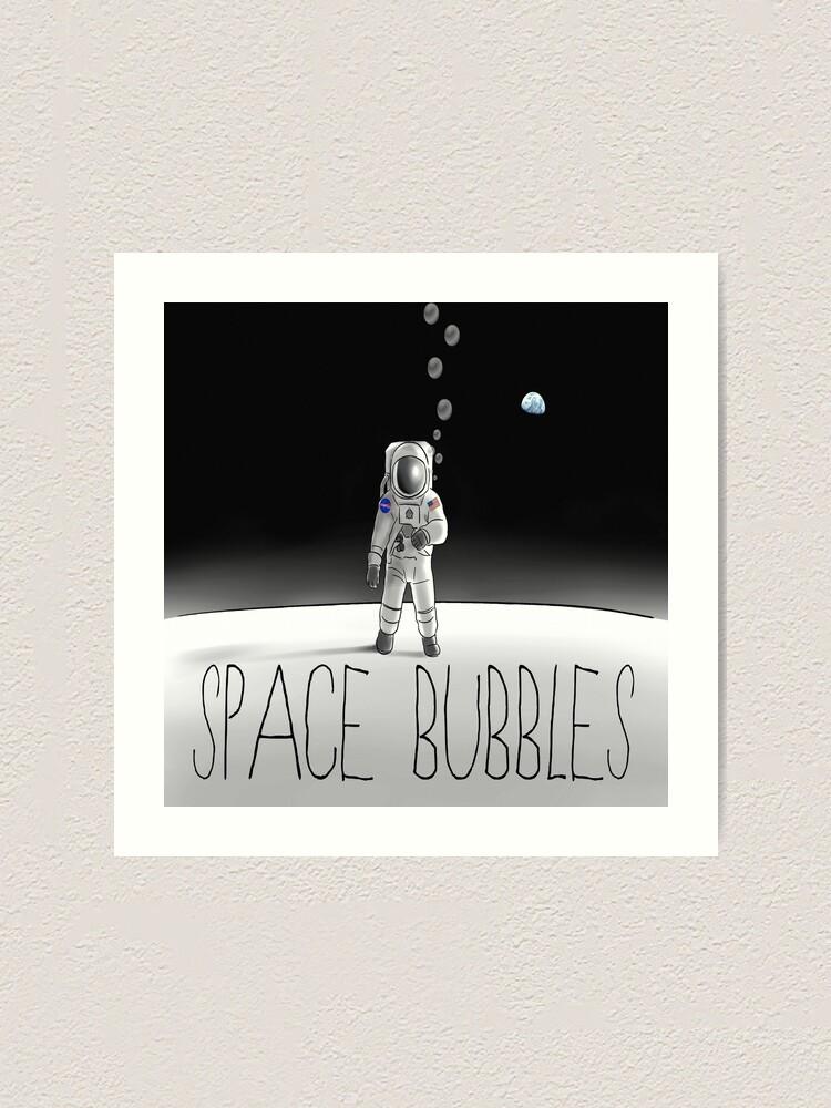 Alternate view of Space Bubbles  Art Print