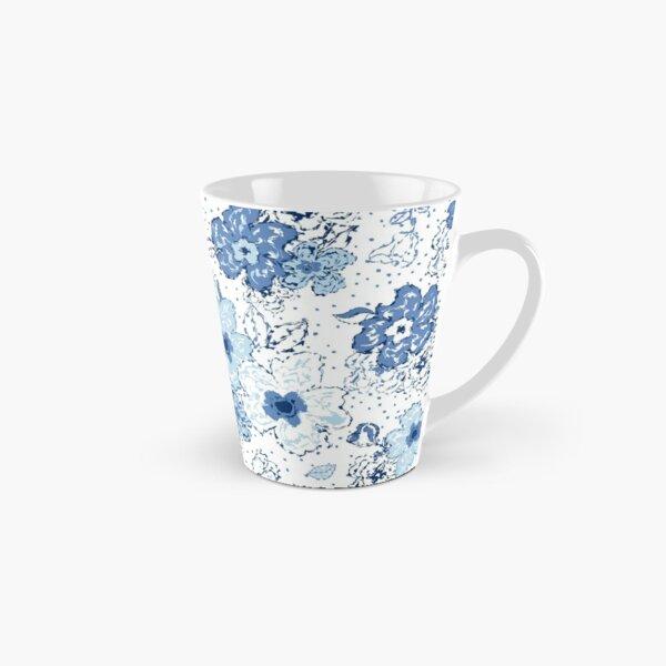 Blue chintz, organic blooms, whimsical flowers pattern, blue tones Tall Mug