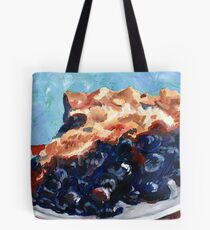 Blueberry Pie Oil Painting Tote Bag