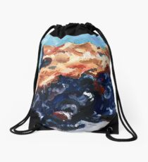 Blueberry Pie Oil Painting Drawstring Bag