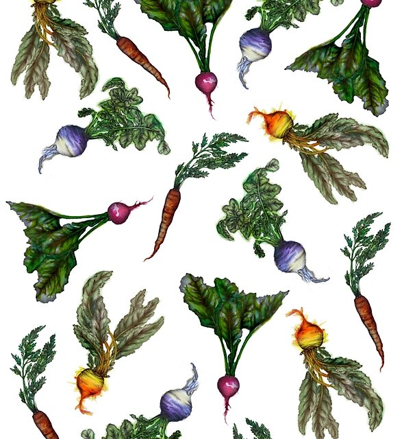 Watercolor Veggies by ECMazur