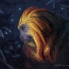 Golden Lion Tamarin by April Neander