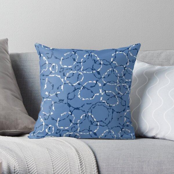 Wonky organic circles, whimsical geo pattern Throw Pillow
