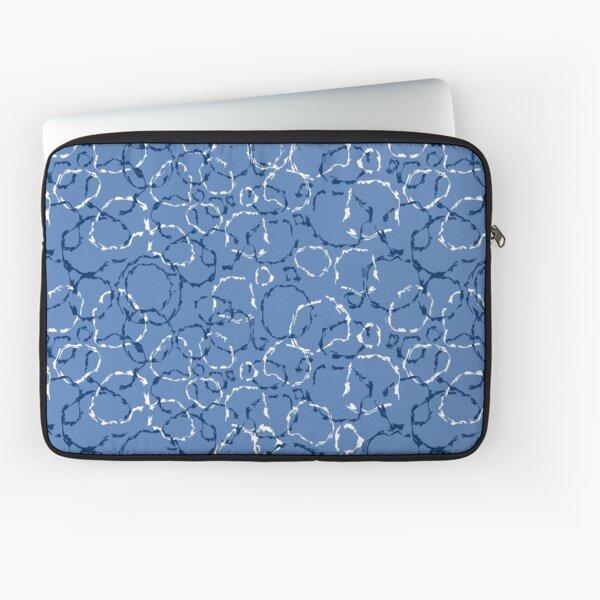 Wonky organic circles, whimsical geo pattern Laptop Sleeve