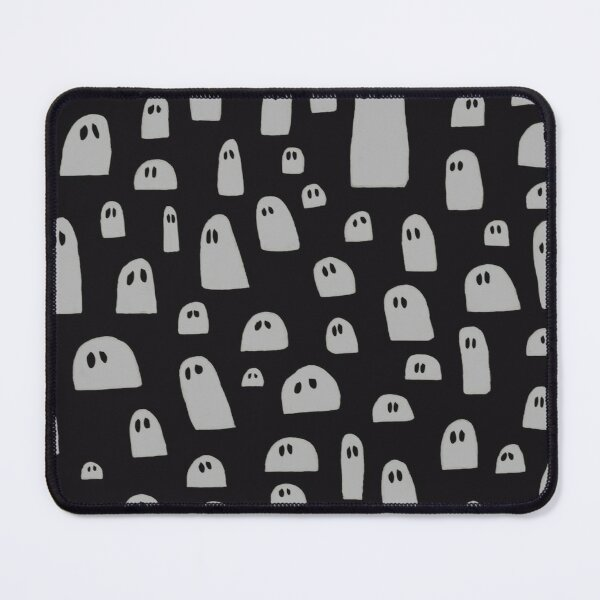 Sad Ghosts Pattern Mouse Pad