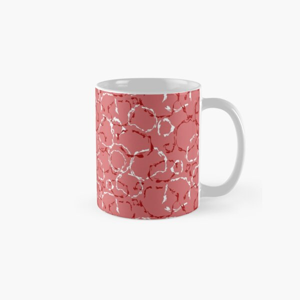 Red organic wonky circles, whimsical geo pattern Classic Mug