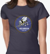US NAVY SEABEES CAN DO! Mascot Womens Fitted T-Shirt