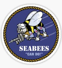 US NAVY SEABEES CAN DO! Mascot Sticker