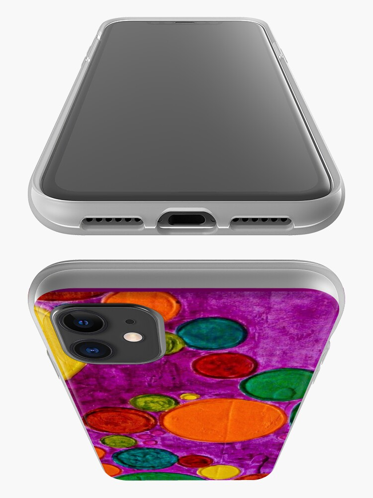 Alternate view of COLORFUL CHILDREN ART CIRCLES AND BUBBLES iPhone Case & Cover