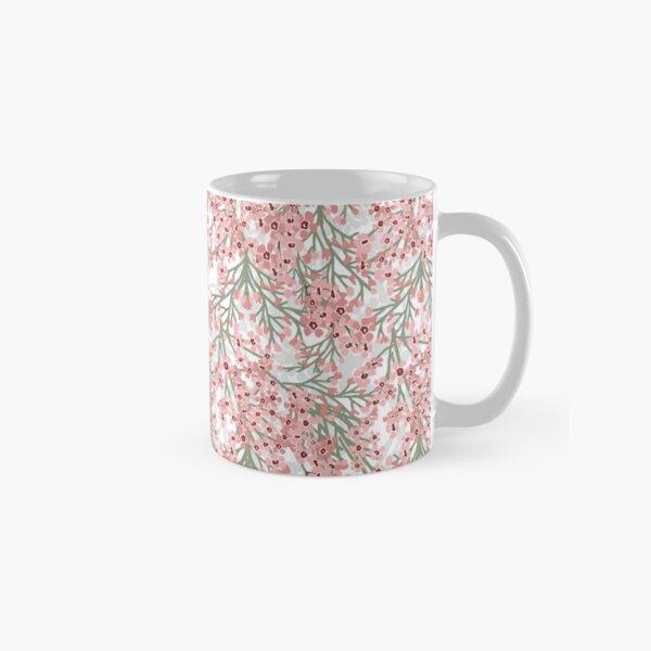 Geraldton Wax Flowers Pattern - pretty pink australian flora Classic Mug