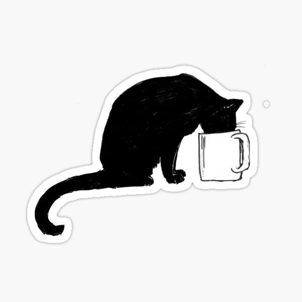 Cat in a Cup Sticker