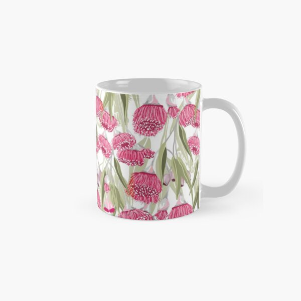 Eucalyptus Pink Gum Blossom Pattern - Australian Flowering Gum Classic Mug