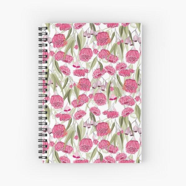 Eucalyptus Pink Gum Blossom Pattern - Australian Flowering Gum Spiral Notebook