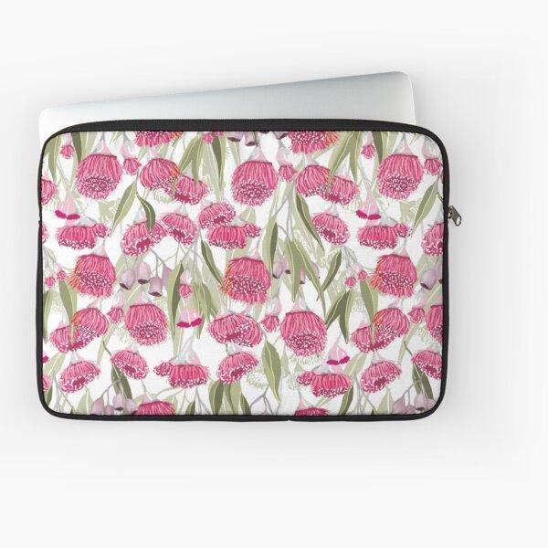 Eucalyptus Pink Gum Blossom Pattern - Australian Flowering Gum Laptop Sleeve