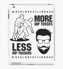 More hip tosses, less hip tossers iPad Case/Skin