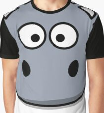 Funny Hippo Graphic T-Shirt