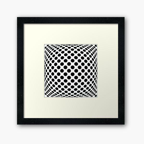 """Polka Dot Op Art - """"Mad Men"""" Style Framed Art Print"""