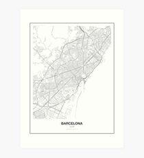 Barcelona Minimalist Map Art Print