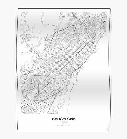 Barcelona Minimalist Map Poster