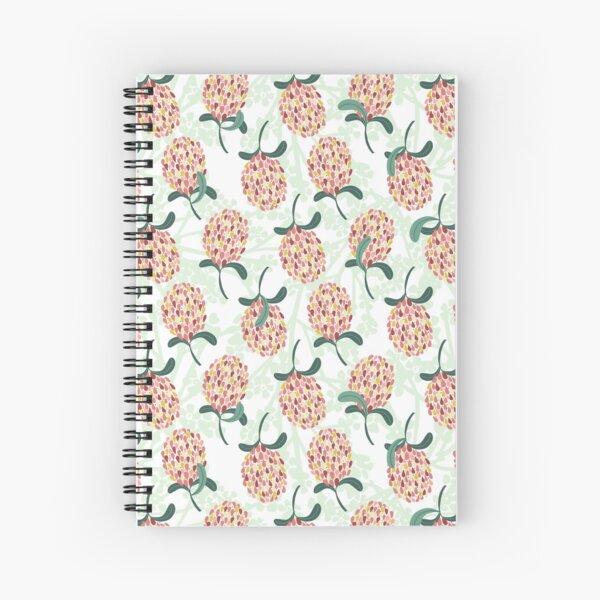 Modern Banksia Pattern- Bright colorful digital illustration Spiral Notebook