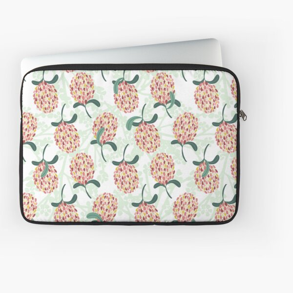 Modern Banksia Pattern- Bright colorful digital illustration Laptop Sleeve