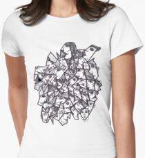 Clear Faces Women's Fitted T-Shirt