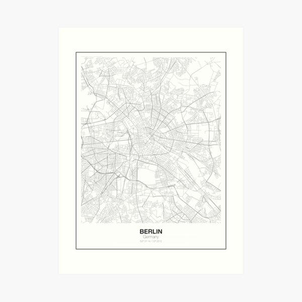 Berlin Minimalist Map Art Print