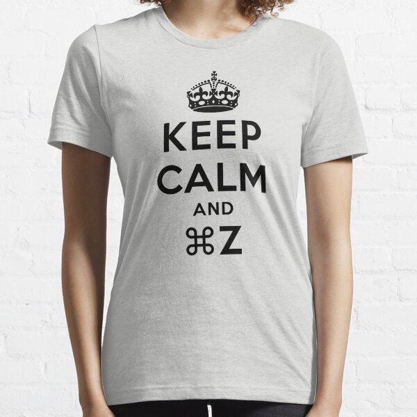 Keep Calm Geeks: Command Z Essential T-Shirt