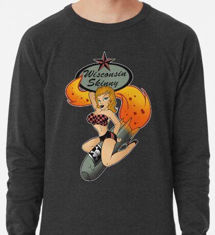 Wisconsin Skinny Bomber Girl Lightweight Sweatshirt
