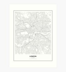 London Minimalist Map Art Print