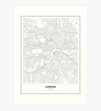 London Minimalist Map Art Print