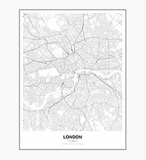 London Minimalist Map Photographic Print