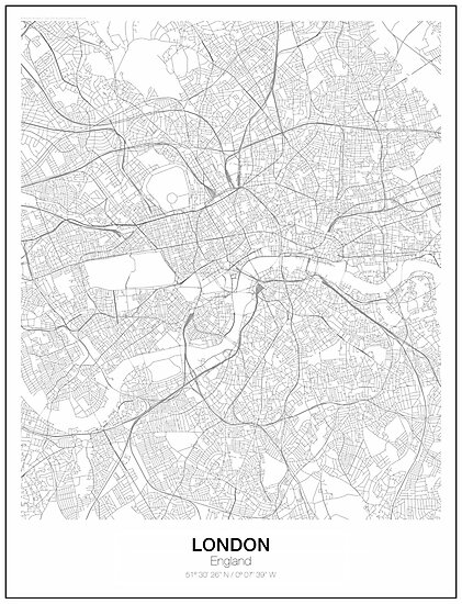 London Minimalist Map by resfeber