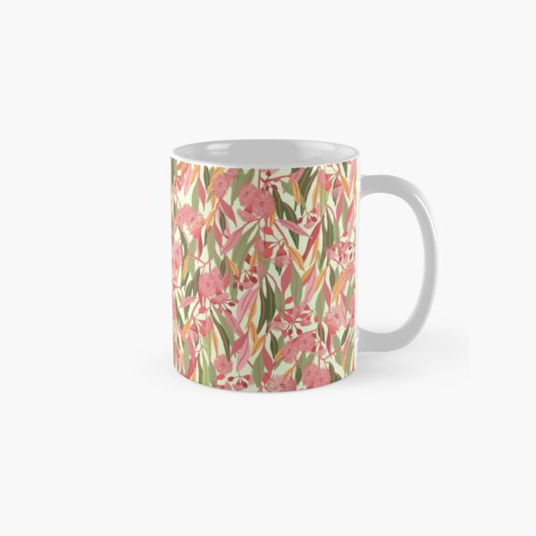 Flowering Eucalyptus Gum Blossoms pattern with colourful gum leaves - Natures Hues Classic Mug