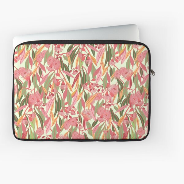 Flowering Eucalyptus Gum Blossoms pattern with colourful gum leaves - Natures Hues Laptop Sleeve
