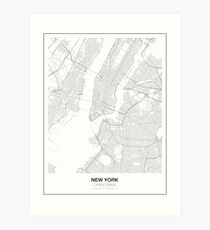 New York Minimalist Map Art Print