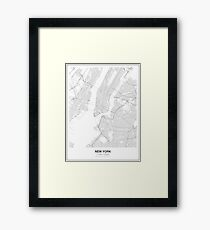New York Minimalist Map Framed Print