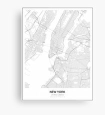New York Minimalist Map Metal Print