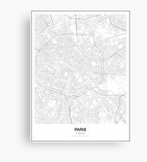 Paris Minimalist Map Canvas Print