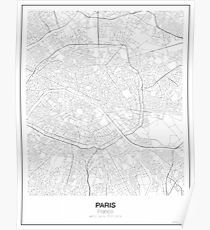 Paris Minimalist Map Poster
