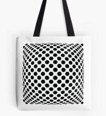 "Polka Dot Op Art - ""Mad Men"" Style Tote Bag"
