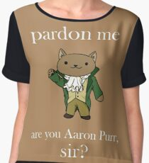Alexander Hamilcat (White Text) Chiffon Top