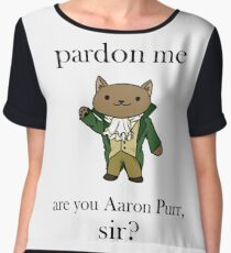 Alexander Hamilcat (Black Text) Chiffon Top