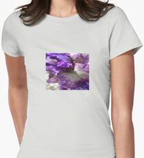 Purple, Violet and Mauve Iris Abstract T-Shirt