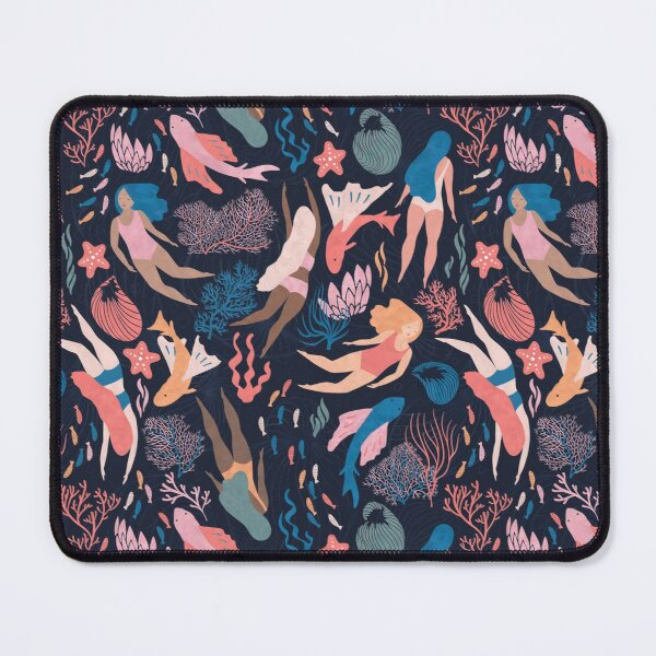 Almost Mermaid on dark Mouse Pad