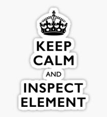 Inspect Element Sticker