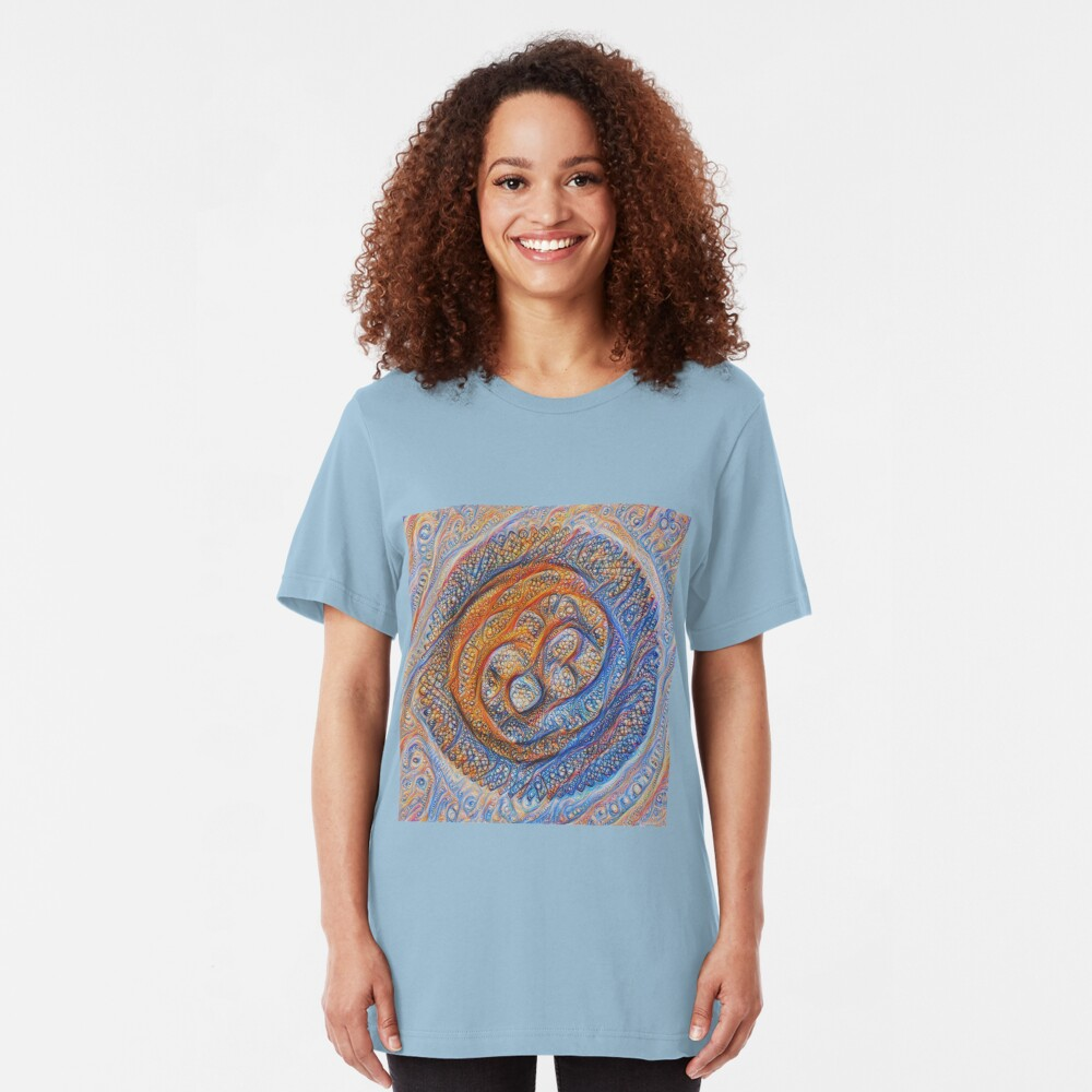 Orbits #DeepDream Slim Fit T-Shirt