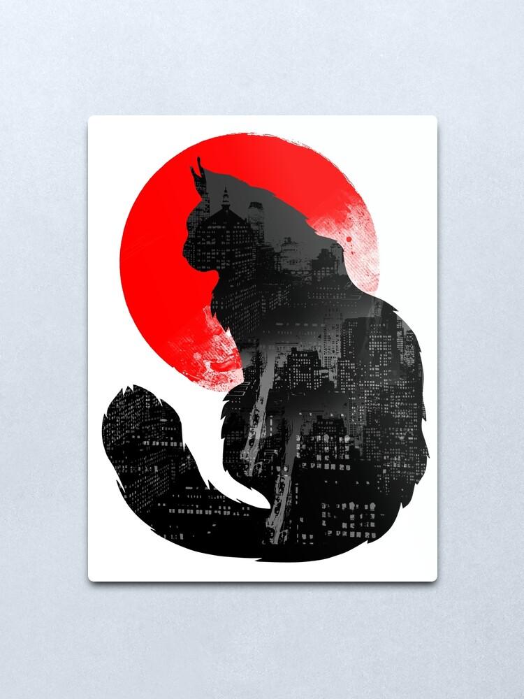 Alternate view of Urban Cat Metal Print
