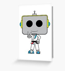 Grappler Bot Greeting Card