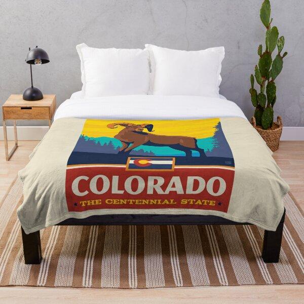 Colorado State Pride Throw Blanket